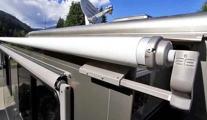 how to install rv awning rail