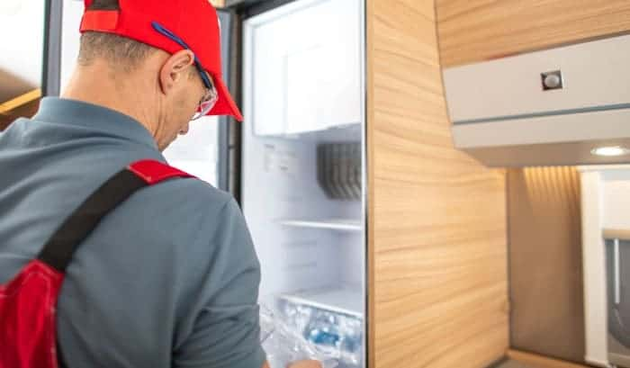 how to check the ammonia level in rv fridge